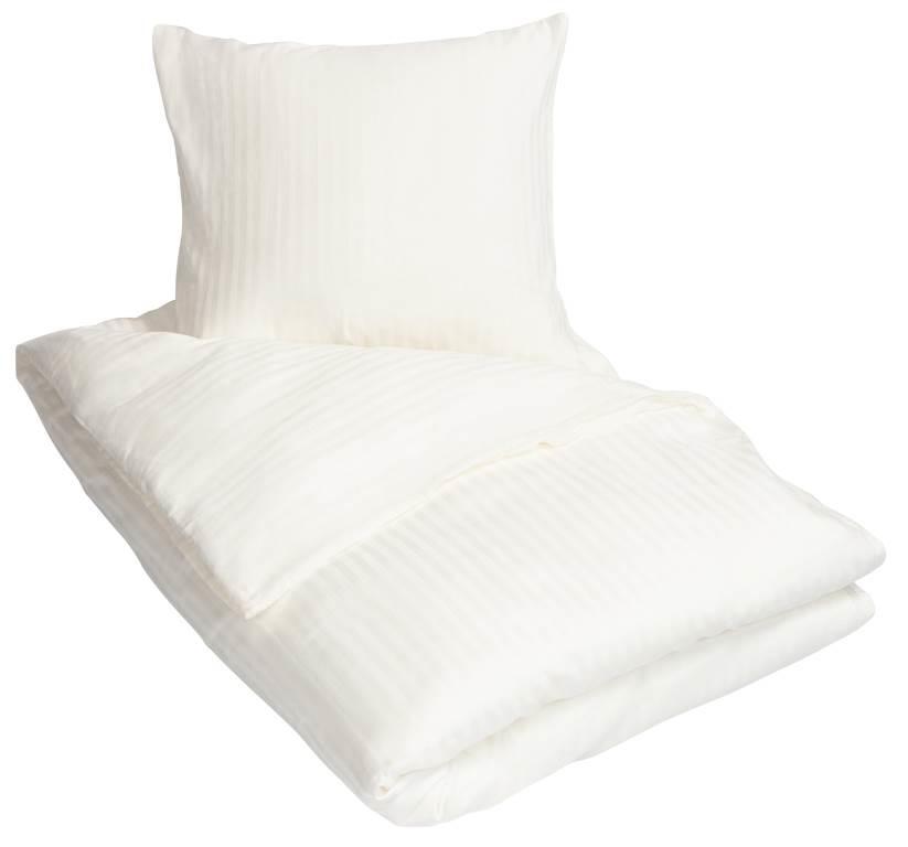 1412e6890f6 Sengetøj - Bomuldssatin - Stribet hvid - 150x210 cm